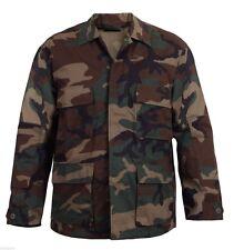 Camuflaje Woodland Bdu Camisa Estilo Militar Camuflaje Abrigo Rothco 7940