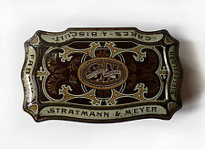 Boite tôle Stratmann & Meyer 1920 Biscuit Tin Box 1920s from Germany