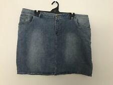 Women's Plus Size 26 Denim Short Mini Skirt