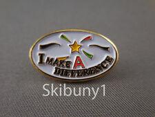 I MAKE A DIFFERENCE volunteer school employee lapel pinLot wholesale 10 pk NIB