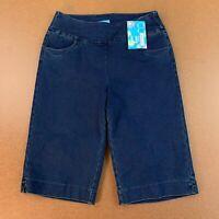 Kristen's Kloset Women's Size 2 Dark Wash Denim Pull On Bermuda Shorts NWT