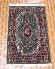 2.6'x4' Carpet Hand Knotted Living Room Traditional Chobi Indian Green Red Color