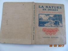 livre d'école ancien La nature en images terre & êtres vivants, sciences
