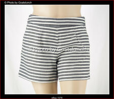 Laura Ashley High Waisted Striped Linen Blend Shorts Size 14