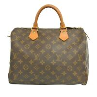 Louis Vuitton Speedy 30 M41526 Monogram Mini Boston Hand Bag Purse Brown France