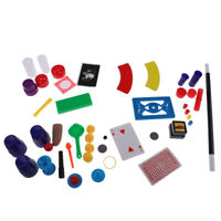 75 over Trick Amazing Magic Props Kit Set Kids Beginners Card Coin Trick Toy