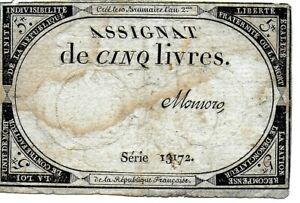 France Assignates 5 Livres 1793 Pick A76