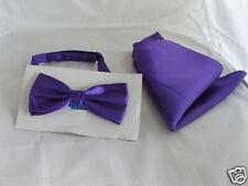 Lucente VIOLA PAPILLON E Hankie Set & GT corrispondenza Cravatta e cummerbund R disponibile