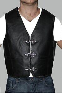 *** Club biker Lederweste Kutte rocker weste gang Motorrad chopper Vest  * Pulsz