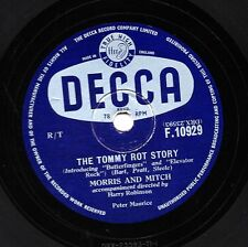MORRIS & MITCH COMEDY 78 THE TOMMY ROT STORY/ WHAT IS A SKIFFLER DECCA F10929 E+