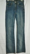 Beau Dawson Jeans Stretch Mid Rise Blue Boot Cut Leg size 2 Made in USA Vintage