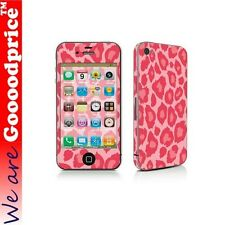 Brand New Leopard Print Style Decal Full Body Skin Sticker Kit for Iphone 4 4s