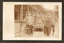 POSTCARD:  COMMAND STAFF (KOMANDANTUR?) 1915 - MUNSINGEN, GERMANY - WORLD WAR 1