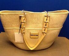 Calvin Klein Sliver/Gold Natural Handbag