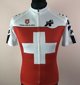 Switzerland Cycling Jersey Men's Size M Full-Zip Short Sleeve Bike Shirt Swiss