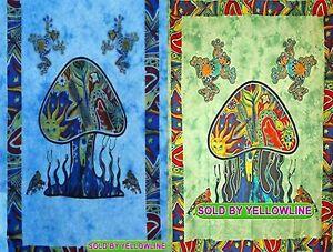 2 piece Mushroom Tapestry Bohomen Indian Wall Hanging Wholesale (77cmX102cm)TG-4