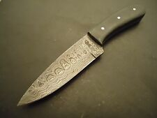 "Pioneer Damascus Steel Hunting Knife Micarta Wood 10"" Pt-2319"