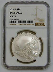 2008 P - Bald Eagle Commemorative Silver Dollar - NGC MS 70
