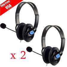 2x Stereo Wired Gaming Headsets Headphones with Mic for PS4 Sony PlayStatio