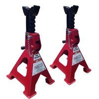 2 x 3TON 6Ton Heavy Duty Axle Jack Stands Home Auto Car Lifting Floor Ratchet Tools Denny International 2 x 3Ton