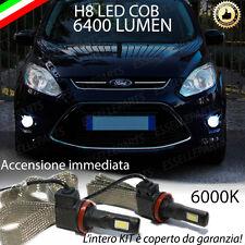 KIT FULL LED FORD C MAX II LAMPADE H8 FENDINEBBIA CANBUS 6400 LUMEN 6000K