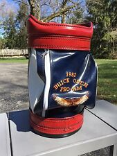 vintage burton golf bag Carry On Leather Buick Open Flint Michigan Clubs Pro-am