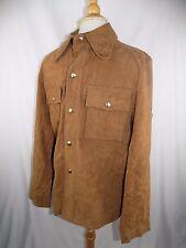 Vintage Sears Sportswear Men's Shop Suede Leather Jacket Mens Size 40 Reg Brown