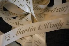 **Personalised** Car wedding Ribbon first class post *fast delivery* Birthday