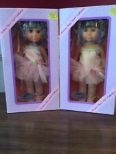 """PRECIOUS GEMS COLLECTION DOLL BALLERINA 12"""" PINK TUTU NEW IN SEALED BOX 1982"""