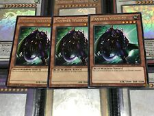 YUGIOH CARD: 3 X PANTHER WARRIOR -  RARE - MIL1-EN036 1ST EDITION CHEAPEST POST!