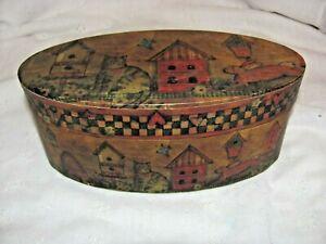 Lang's Primitives Decorative Oval Box Designed by Susan Winget