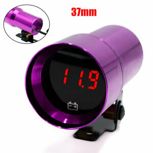 37mm Volt Battery Gauge Digital Voltage Meter Compact Micro Digital Smoked Lens
