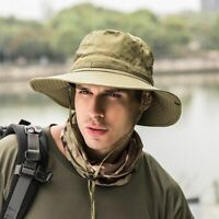 Unisex Army Tactical Military Hiking Fishing Boonie Bucket Sun Hat Wide Brim Cap