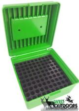 MTM Case Gard Deluxe Green 100 Rd Round Rifle Ammo Boxes 100rd Tip Protection