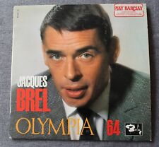Jacques Brel, Olympia 64, LP - 33 tours 25cm