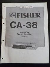 ORIGINALI service manual Fisher Integrated Stereo Amplifier ca-38