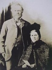 Antique Cabinet Photo-Couple,Man,Lady,Beard,Fashion,Cape,Feather Hat-Newark,NJ