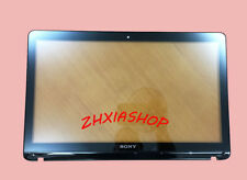 "New SONY VAIO SVF142 SVF142C29L 14"" Touch screen glass digitizer & front bezel"