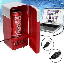 Red Mini USB PC Fridge Freezer Refrigerator Beverage Drink Cans Warmer Cooler