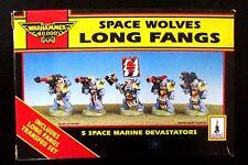 Fuera de imprenta ciudadela/Warhammer 40k lobos espaciales largo colmillos devastadoras Squad Nuevo Y En Caja