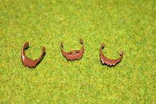 Playmobil 3 Barbas Marrón Oscuro Cabello Caballero Caballeros Top