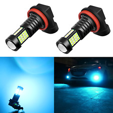 Alla Lighting 2x2600lm H16 Super Bright 6000K White 1919 SMD LED Bulbs Fog Light