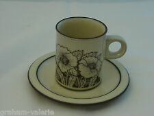 Vintage Hornsea Cornrose Pottery  Coffee Can Cup and Saucer
