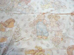 Cabbage Patch Kids Dolls Vintage Twin Size Flat Bed Sheet Fabric Crafts
