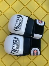 Combat Sports Tg4 Leather Hybrid Mma Grappling Training Safety Sparring Gloves