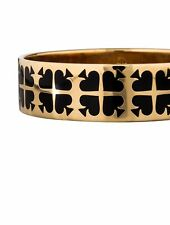 Kate Spade Play Your Cards Right Bracelet NWT Signature Spade Gold & Black Chic!