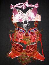 C807 B/&D Cup Bauchtanz Kostüm Fasching Belly Dance Costume BH Gürtel Rock 3Teile