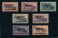 Memel 1921 Good airmail set Very Fine MH stamps