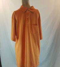 Woolrich Men's Collared Shirt Size Medium Orange Casual Date Golf