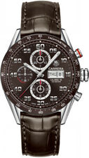 CV2A1S.FC6236 | New Tag Heuer Carrera Brown Dial Men's Watch on Brown Strap